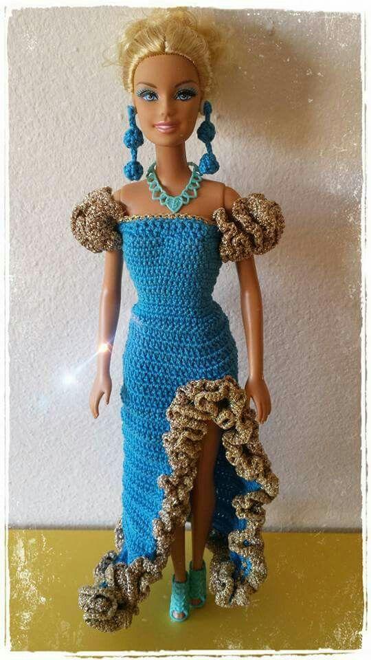 Ziemlich Barbie Puppe Häkelkleidung Muster Frei Zeitgenössisch ...