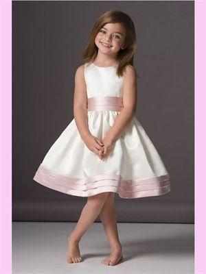 Satin Short Flower Girl Dress AFG0195