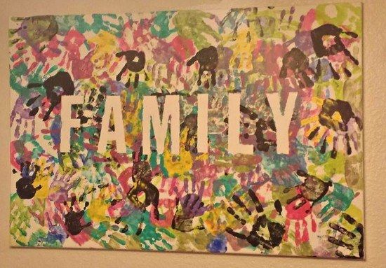 Family tape painting