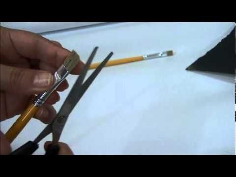 Pintura em Tecido Passo a Passo: COMO PREPARAR OS PINCÉIS PARA PINTAR