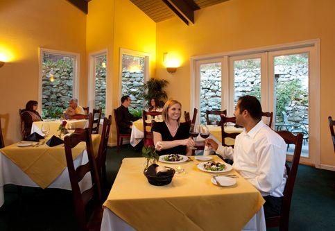 The Gardens of Avila dining room inside the Sycamore Mineral Springs Resort