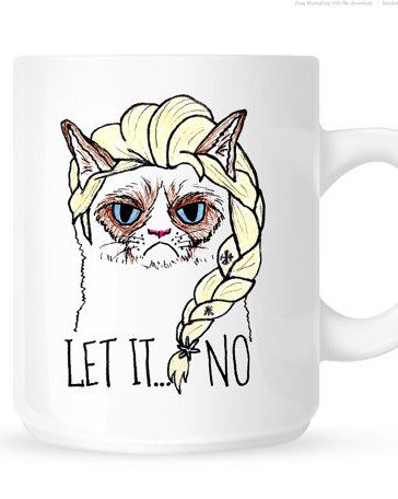 Grumpy Cat Elsa Mug - Let It No