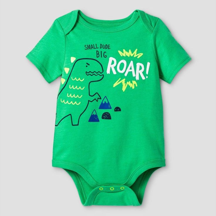 Baby Boys' Big Roar Bodysuit Cat & Jack - Green 6-9 Months