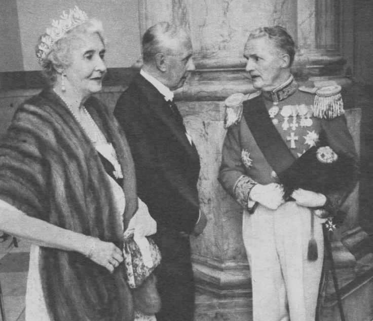 Lady Patricia Ramsey, nee Princess Patricia of Connaught, wearing the diamond tiara of Marie Louise and Helena of Schleswig-Holstein.