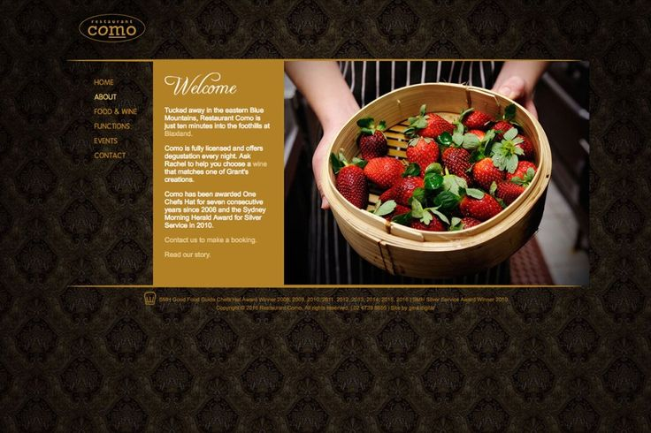 Gina designed and developed this premium website for award-winning multi-hatted Restaurant Como, located in the Blue Mountains suburb of Blaxland.