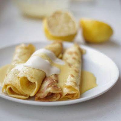 uten gluten: tynne, saftige pannekaker med sitronsmør
