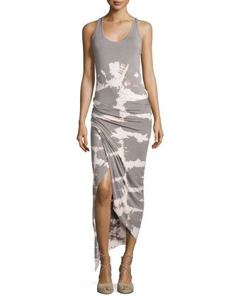 Sassy+Tie-Dye+Maxi+Dress,+Tan+Alligator+Wash+by+Young+Fabulous+and+Broke+at+Neiman+Marcus+Last+Call.