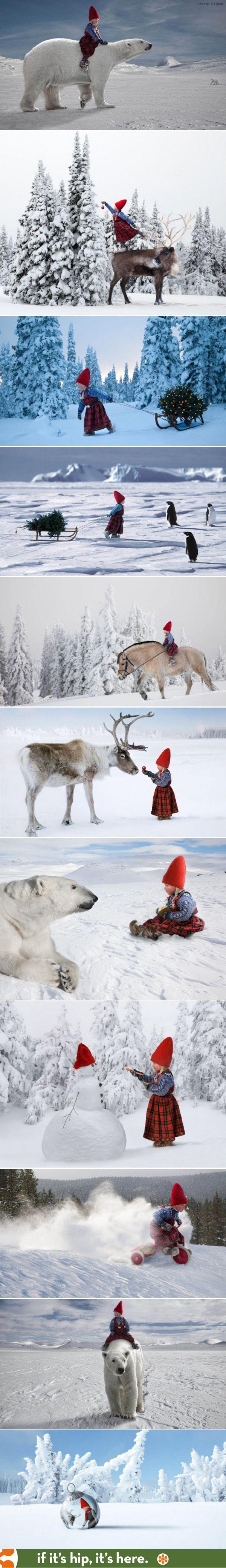 Enchanting Winter Magic photos of a Nordic Christmas | http://www.ifitshipitshere.com/winter-magic-spellbinding-photographs-by-per-breiehagen-for-italian-childrens-brand-chicco/