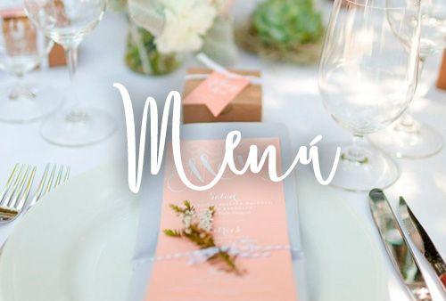 El menú es una de las grandes cosas importantes que no debe fallar el día de tu boda, y debe estar cuidado hasta el mínimo detalle. Por supuesto, la forma de presentarlo a tus invitados también.  Aquí una selección de cómo presentar el menú de tu boda.