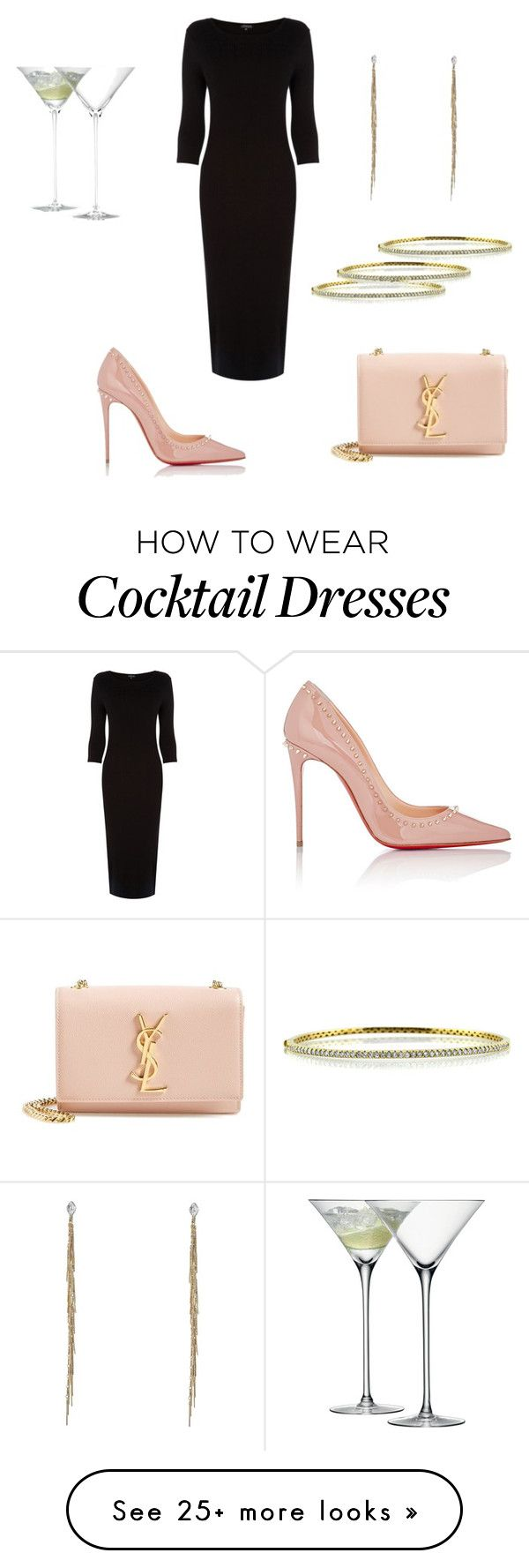 """Untitled #56"" by thisvi on Polyvore featuring Yves Saint Laurent, Warehouse, Christian Louboutin, LSA International, Mark Broumand and DANNIJO"