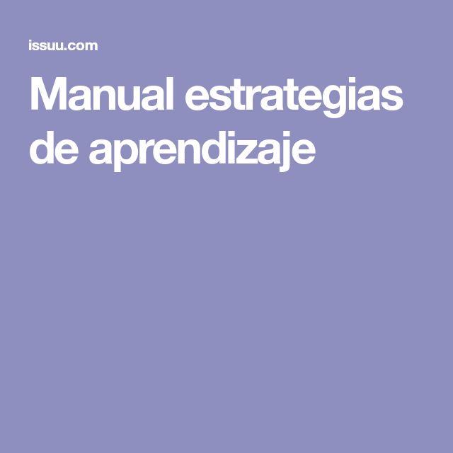 Manual estrategias de aprendizaje