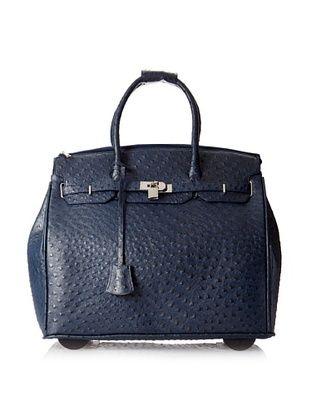 50% OFF KC Jagger Women's Kendall Rolling Bag, Navy Ostrich