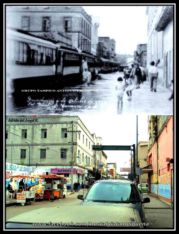 Calles inundadas, tranvías sin funcionar por falta de energía eléctrica, el ir y venir de personas tratando de conseguir viveres; esta imagen refleja el panorama de lo que se vivió después de los ciclones que azotaron en Tampico en el año de 1933. www.facebook.com/nostalgiatampiquena