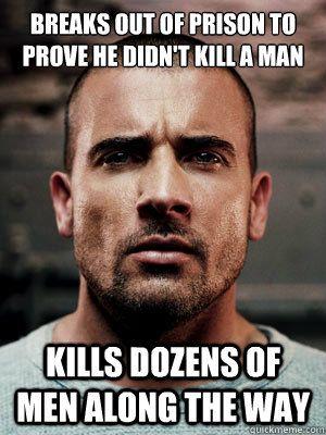 Lincoln Burrows- absolute hero. Prison Break best programme