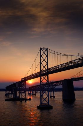 Chesapeake Bay Bridge.  I want to go see this place one day. Please check out my website thanks. www.photopix.co.nz