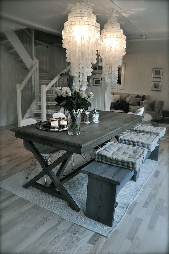 Table and lamps