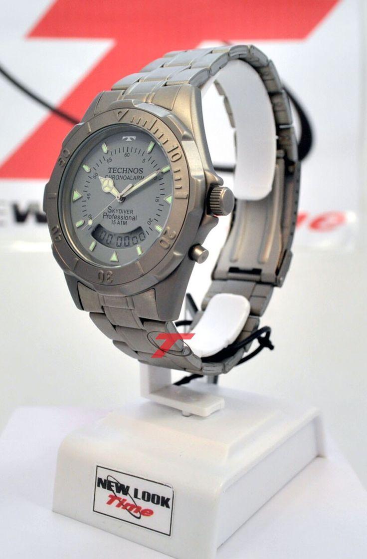 [TimeMob] Relógio Technos Skydiver Titanio R$218,40