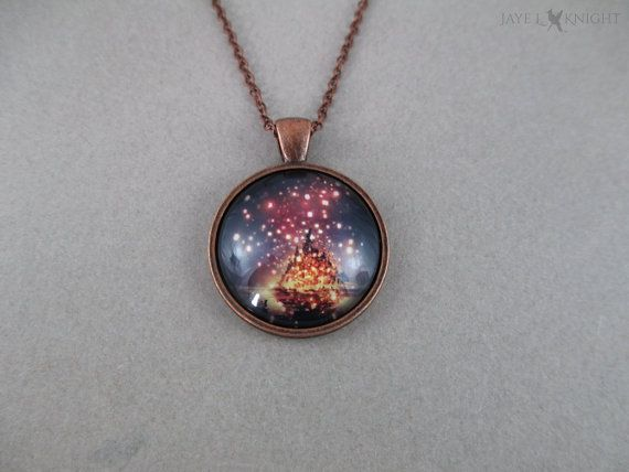 Tangled Lanterns Cabochon Pendant Necklace by JayeLKnight on Etsy