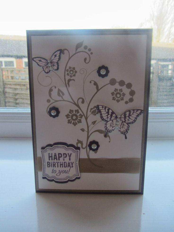 Stampin Up Flowering Flourishes Birthday card