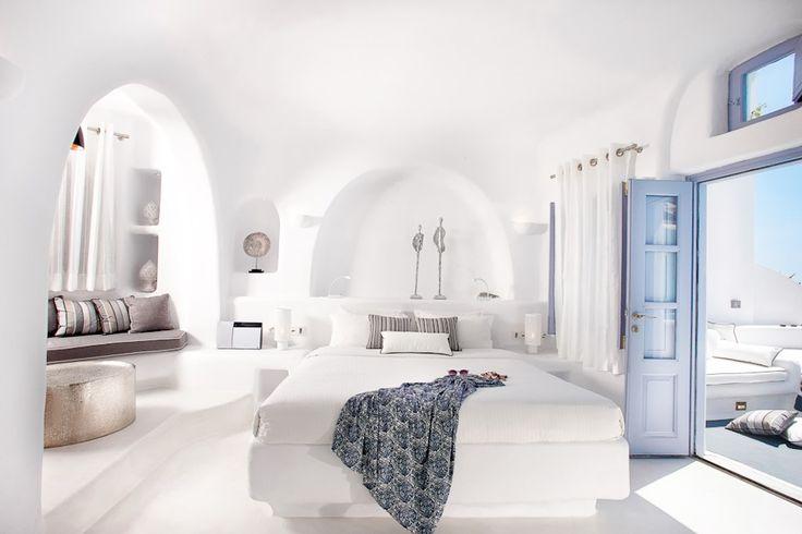 The Honeymoon Villa - Indoor and Outdoor heated plunge pools with jacuzzi - Dana Villas Santorini Hotel, Firostefani, Santorini, Greece   Book Online