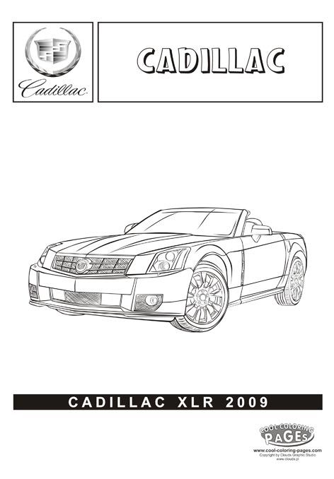 printable coloring pages of cadillac - photo#14