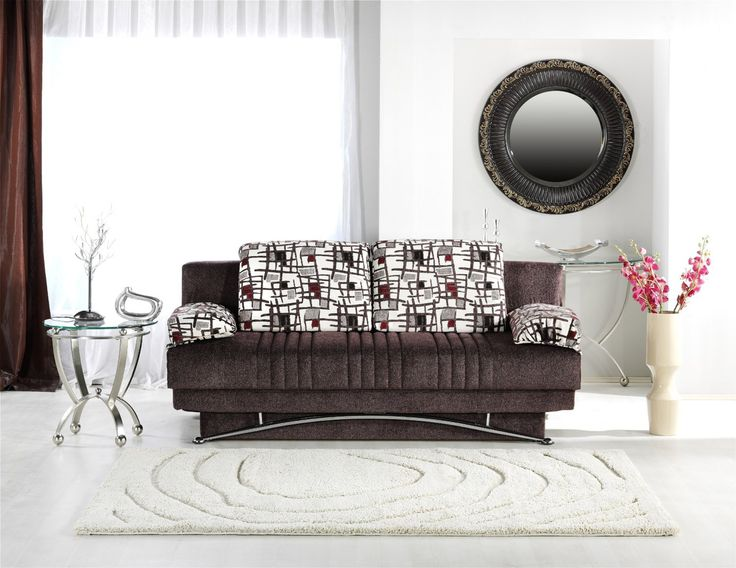 Fantasy Queen Size Convertible Sofa Bed with Storage in ...