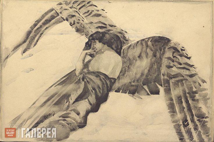 Врубель Михаил. Демон летящий. Иллюстрация к поэме М.Ю. Лермонтова «Демон». 1890–1891