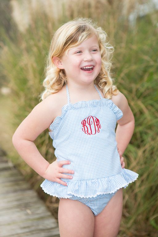 Girls swimsuit, perfect for the 4th!   Crescent Moon Children