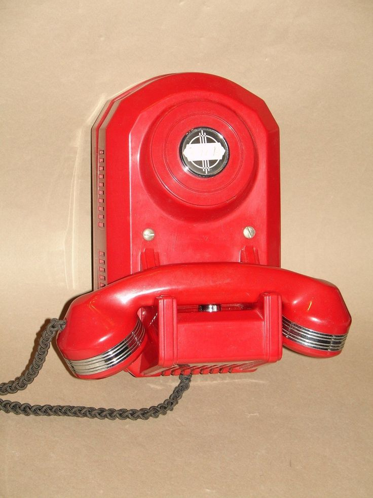 ART DECO CHINESE RED NON-DIAL AUTOMATIC ELECTRIC TYPE 50 MONOPHONE TELEPHONE