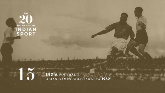 15: India win 1962 Asiad football gold - The last great triumph in Indian football came in Jakarta over half a century ago when they beat South Korea 2-1 in front of a hostile crowd. Pic:  Imagno/Getty Images   www.piclectica.com #piclectica