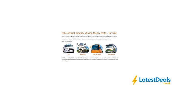 Take official practice driving theory tests - for free