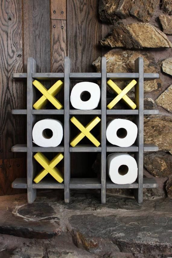 Bathroom Tic Tac Toe Toilet paper holder Toilet paper Tic | Etsy   – Bad
