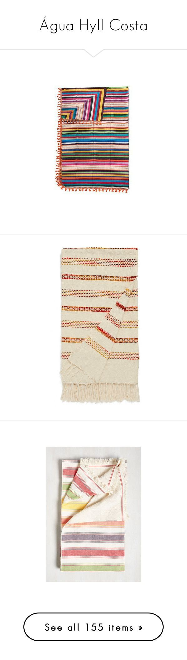 """""""Água Hyll Costa"""" by encelade ❤ liked on Polyvore featuring home, bed & bath, bedding, blankets, bedspreads and quilts, home decor, pillows & throws, striped throw blanket, king cotton blanket and king size blanket"""