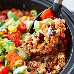 Chili z indykiem, warzywami i ryżem   Kwestia Smaku