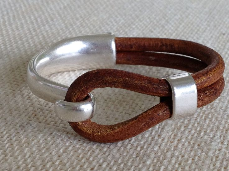 Distressed Tan Leather Bracelet, Antique Silver Hook Clasp, Leather Cord Bracelet, Leather Bangle, Women's Leather Bracelet, Double Strand by urbantribejewelry on Etsy https://www.etsy.com/listing/129013690/distressed-tan-leather-bracelet-antique