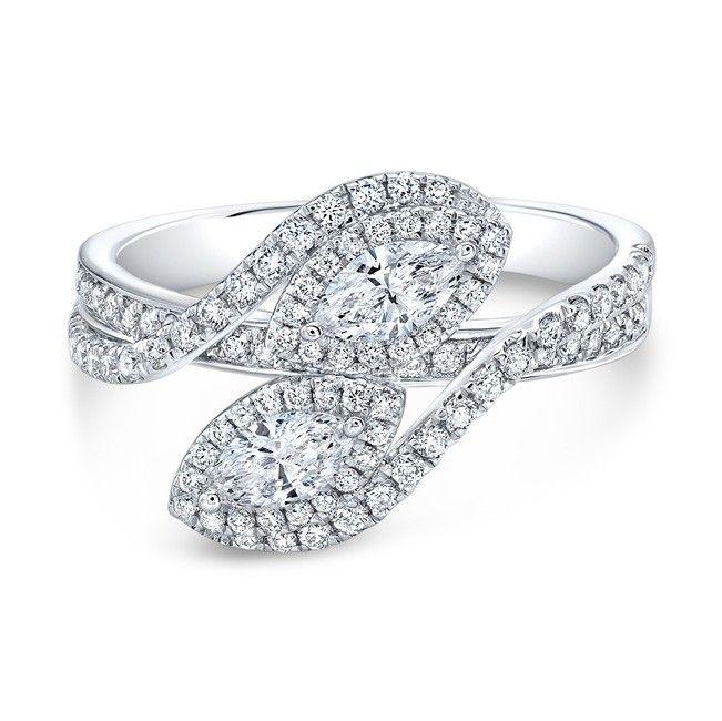 18k White Gold Forevermark 2 Stone Ring - 18k White Gold Forevermark 2 Stone Ring