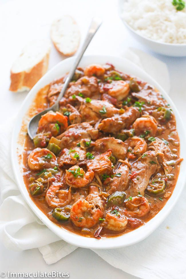Chicken Shrimp and Okra Gumbo This gumbo looks AMAZING!!! I'd rather have okra than the file.