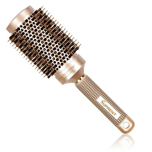 SUPRENT Nano Thermal Ceramic & Ionic Round Barrel Hair Brush with Boar Bristle, 2 inch, for Hair Drying, Styling, Curling, Adding Hair Volume and Shine, Gold Color(2 inch). For product & price info go to:  https://beautyworld.today/products/suprent-nano-thermal-ceramic-ionic-round-barrel-hair-brush-with-boar-bristle-2-inch-for-hair-drying-styling-curling-adding-hair-volume-and-shine-gold-color2-inch/