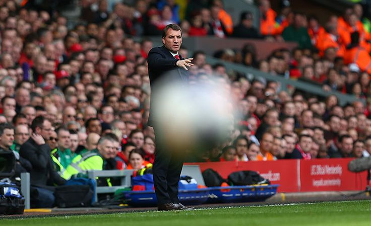 Credit: Jason Cairnduff/Action Images Brendan Rogers practises his psychokinetic powers on the ball.