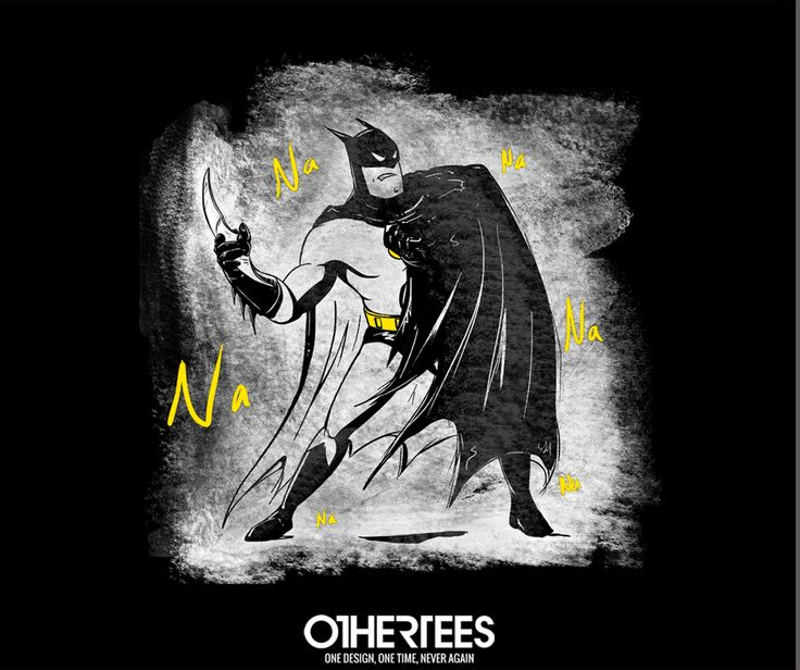 """NaNaNa"" by carlos_e_gil T-shirts, Tank Tops, V-necks, Sweatshirts and Hoodies are on sale until February 20th at www.OtherTees.com #dc #dccomics #detectivecomics #othertees #batman #brucewayne #tshirts"