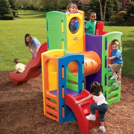 Climbing towers playground playground for Little tikes outdoor playset