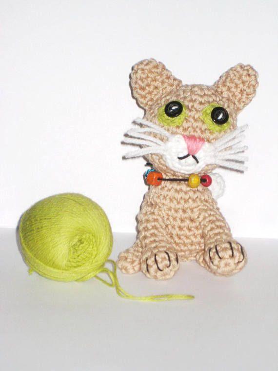 Crochet Cat Pattern Amigurumi Animal Toy Pdf Pattern Cream Kitten
