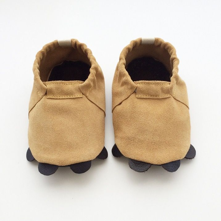 Image of Coyote leather moccasins