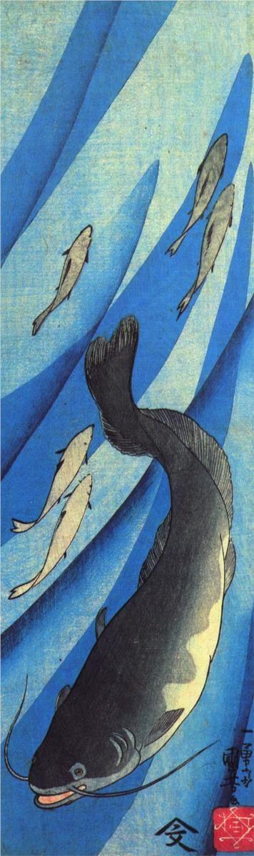 """""""Catfish"""" by Utagawa Kuniyoshi, Style: Ukiyo-e"""