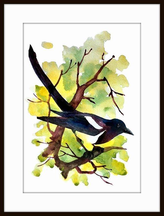 Aquarell Kunstdruck/Vogel Vogel Kunst Aquarell Malerei Kunst