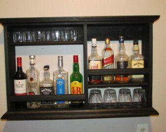 Mini-Bar, mancha negra, estilo minimalista, gabinete de licor
