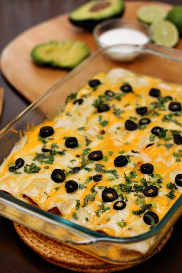 Creamy Black Bean Enchiladas Recipe