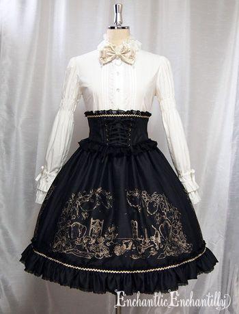 Chantilly - After Tea Party Corset Ribbon Skirt (2014) /// ¥24,150 /// Waist:  58 cm~90cm (full shirring) Length:  17 cm (corset), 54 cm (skirt)