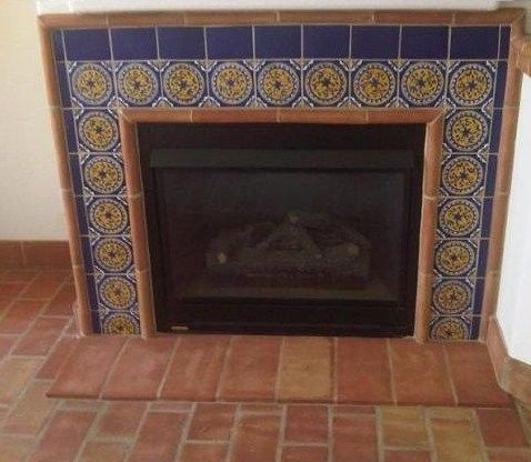 1000 Images About Fireplace Design Favorites On Pinterest Mexican Tiles Spanish Tile Floors
