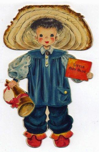 Vintage Hallmark Doll Card #8 -Little Boy Blue | justakidagain - Ephemera on ArtFire